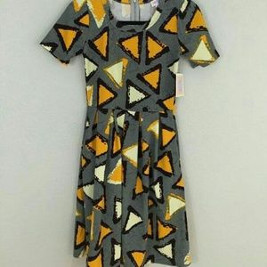 Lularoe Amelia xs dorito print triangles